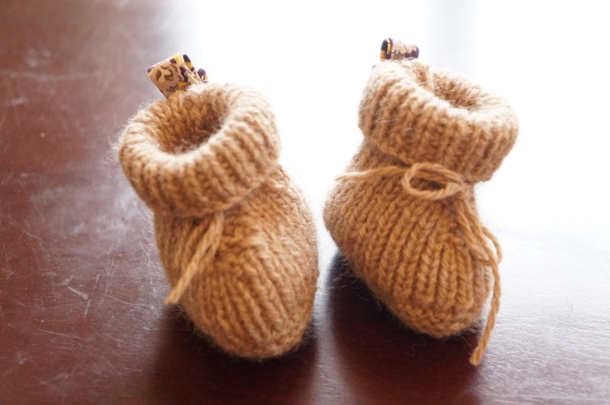 chaussons bébé tricot cachemire