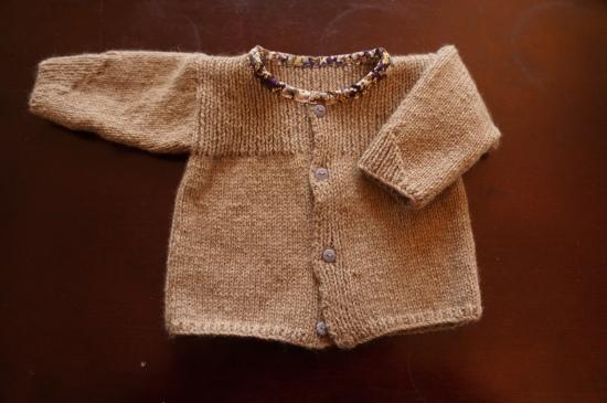 gilet tricot cachemire bébé