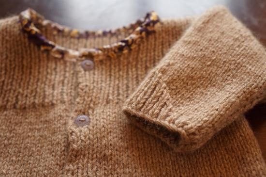 gilet manche cachemire bébé tricot