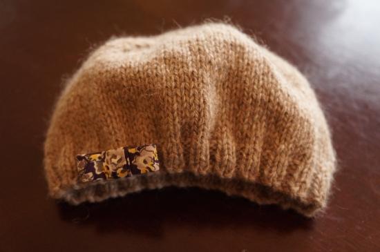 bonnet bébé tricot cachemire
