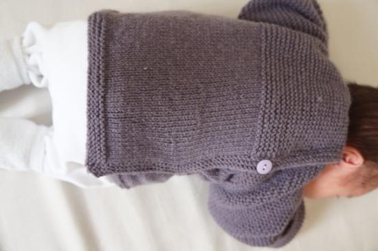 laine ensemble gilet caleçon tricot bergère de france 1