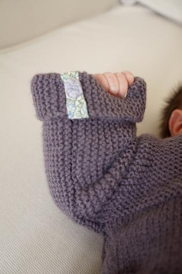 laine ensemble gilet caleçon tricot bergère de france 3