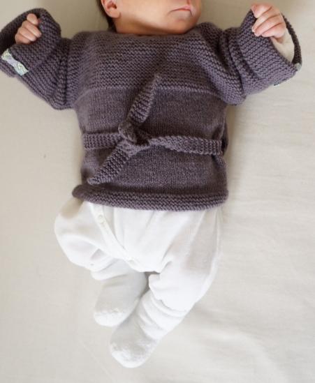 laine ensemble gilet caleçon tricot bergère de france 4