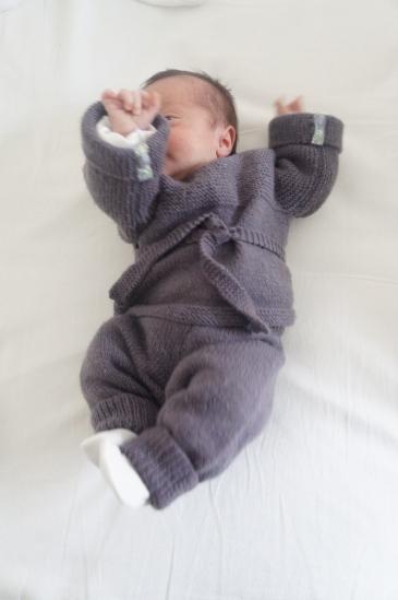laine ensemble gilet caleçon tricot bergère de france
